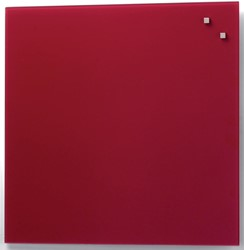 Naga magnetisch glasbord, rood, ft 45 x 45 cm