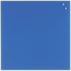 Naga magnetisch glasbord, kobaltblauw, ft 45 x 45 cm