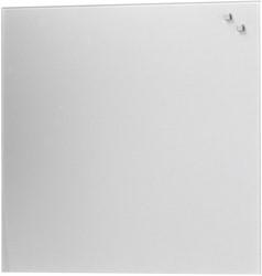 Naga magnetisch glasbord, zilver, ft 45 x 45 cm