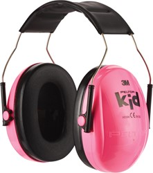 3M oorbeschermers Peltor Kid, geluidsdemping tot 98 dB, roze
