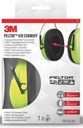 3M gehoorkap Peltor  Kid , groen
