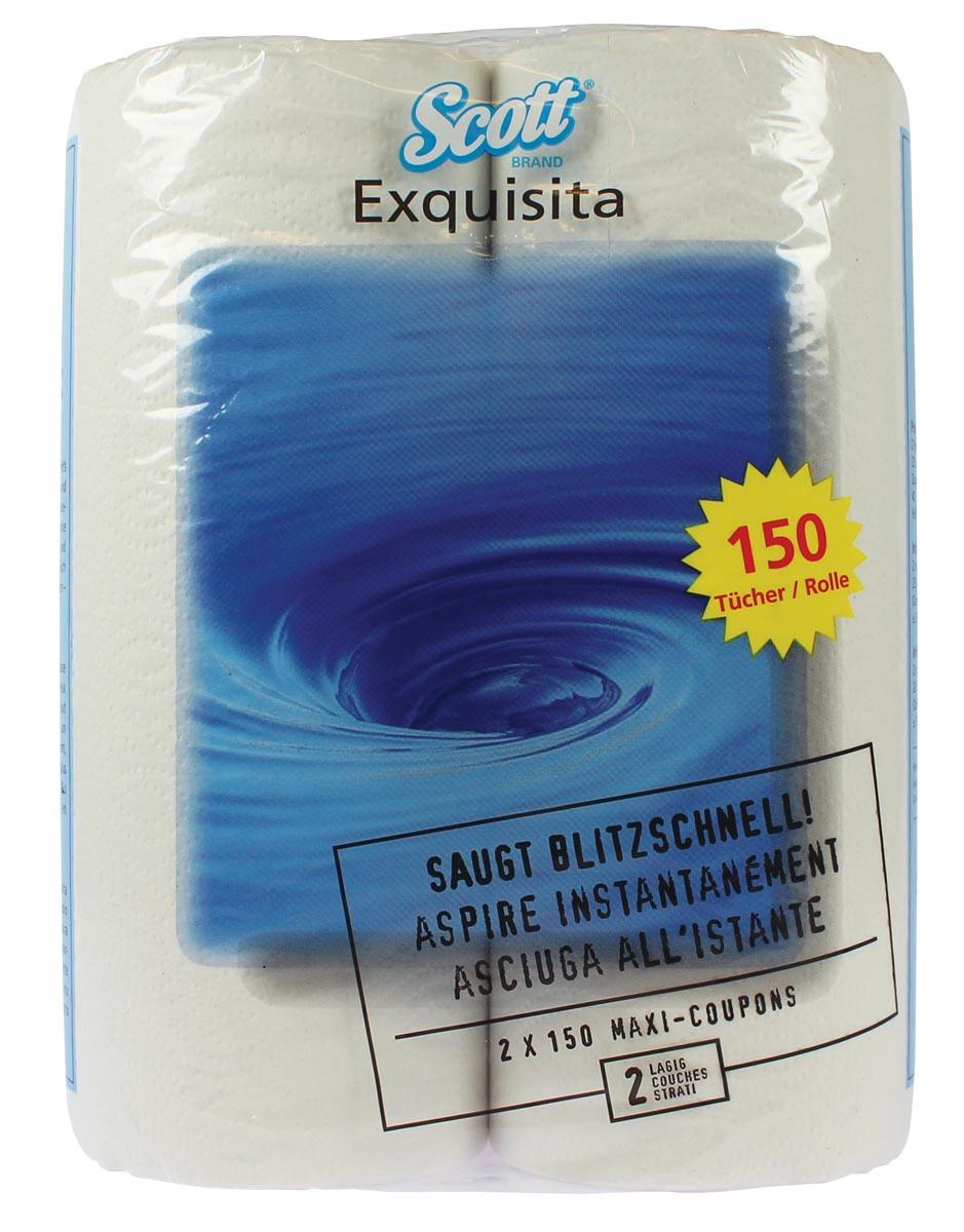 Scott keukenrol Exquisita, 2-laags, 150 vellen, pak van 2 rollen