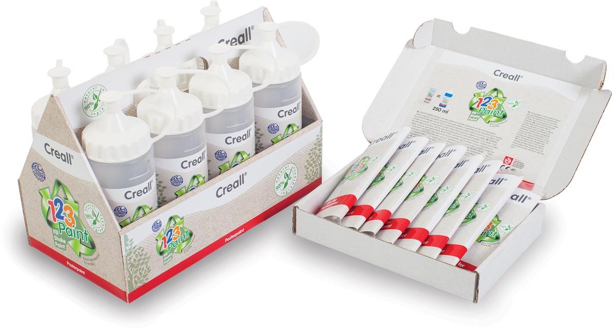 Creall plakkaatverf in poedervorm 1-2-3 Paint, starterset met 8 geassorteerde kleuren