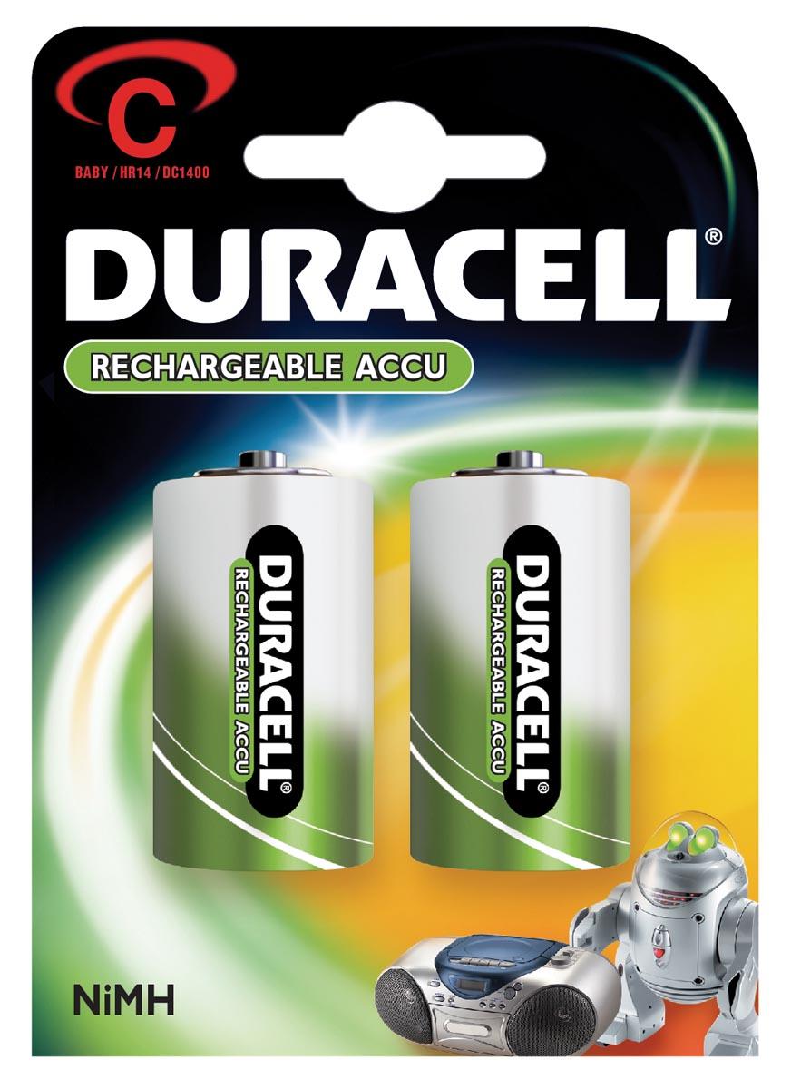Batterij oplaadbaar Duracell 2xC 2200mAh staycharged