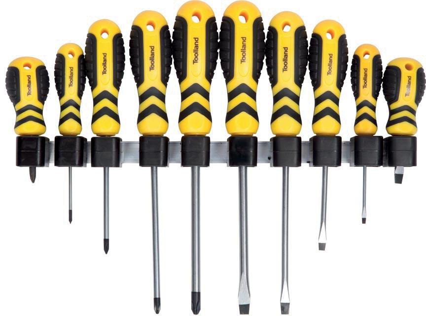 Toolland schroevendraaiers, set van 10 stuks