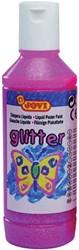 Jovi Plakkaatverf Glitter flacon van 250 ml, roze