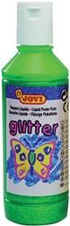 Jovi Plakkaatverf Glitter flacon van 250 ml, groen