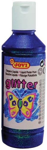 Jovi Plakkaatverf Glitter flacon van 250 ml, paars