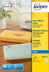 Avery transparante etiketten QuickPEEL ft 99,1 x 33,9 mm (b x h), 400 stuks, 16 etiketten per blad