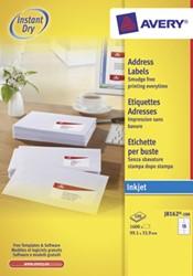 Avery witte etiketten QuickDry ft 99,1 x 33,9 mm (b x h), 1.600 stuks, 16 per blad