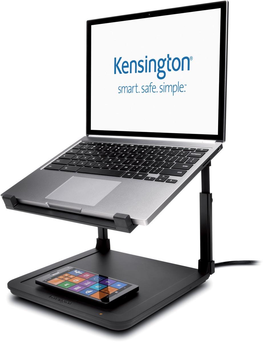 Kensington SmartFit Laptopverhoger met platform voor draadloos opladen