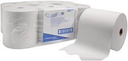 Scott papieren handdoekrol, 1-laags, 304 meter, pak van 6 stuks