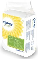 Kleenex papieren handdoeken Slimroll, 1-laags, 100 m, pak van 2 rollen