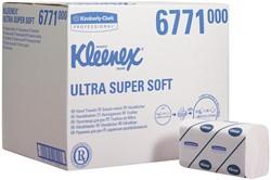 Kleenex papieren handdoeken Ultra Super Soft, intergevouwen, 3-laags, 96 vellen, pak van 30 stuks
