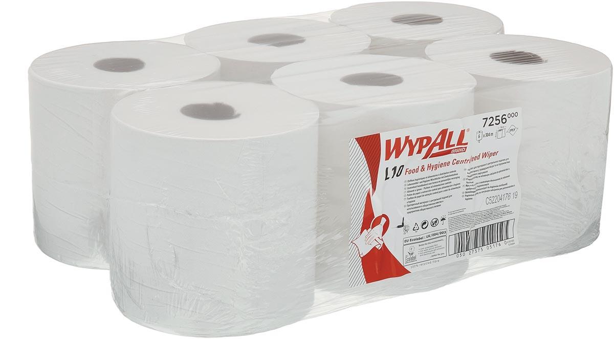 Wypall reinigingsdoeken L10, centerfeed, 1-laags, 800 vellen, pak van 6 rollen