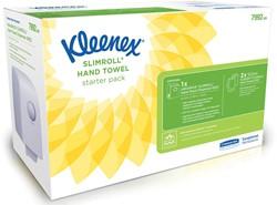 Kleenex startpakket Aquarius Slimroll, bevat dispenser Aquarius en 2 rollen handdoeken Slimroll