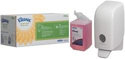 Kleenex startpakket schuimzeepdispenser, bevat Aquarius dispenser (ref. K6948) en zeep (ref. K6340)