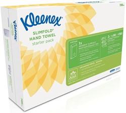 Kleenex startpakket Aquarius Slimfold, bevat dispenser Aquarius en 2 pakken multifold handdoeken
