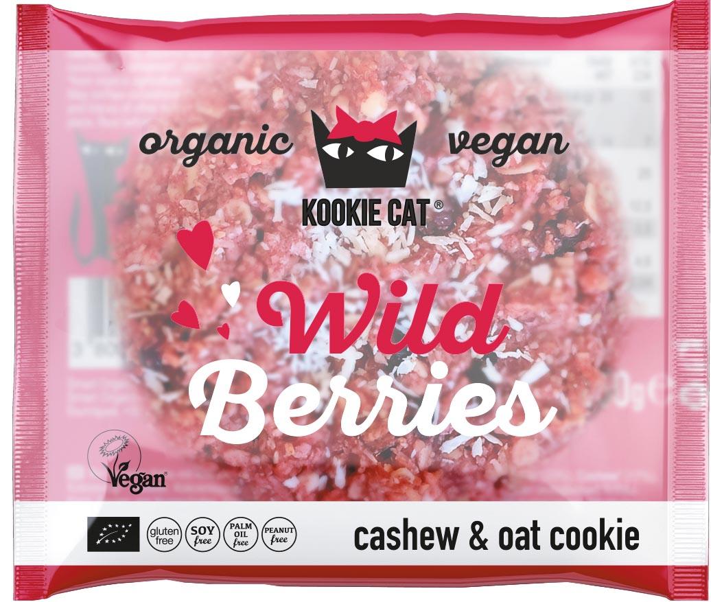 Kookie Cat koekje Wild Berries, 50 g