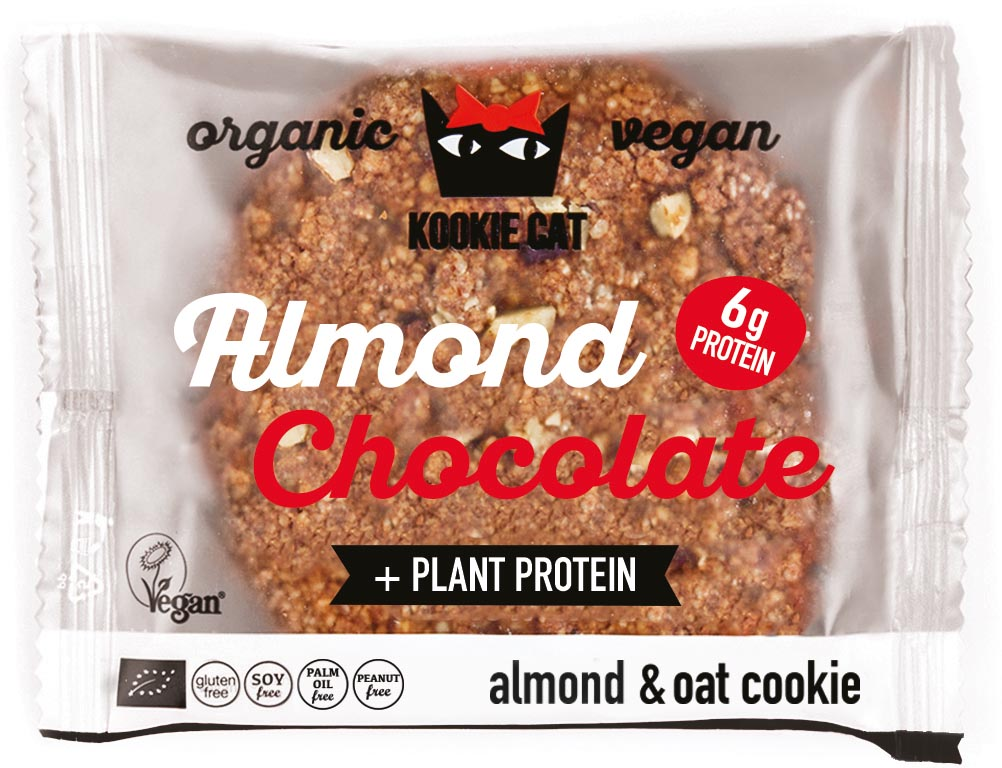 Kookie Cat koekje Protein Dark Chocolate, 50 g, pak van 12 stuks