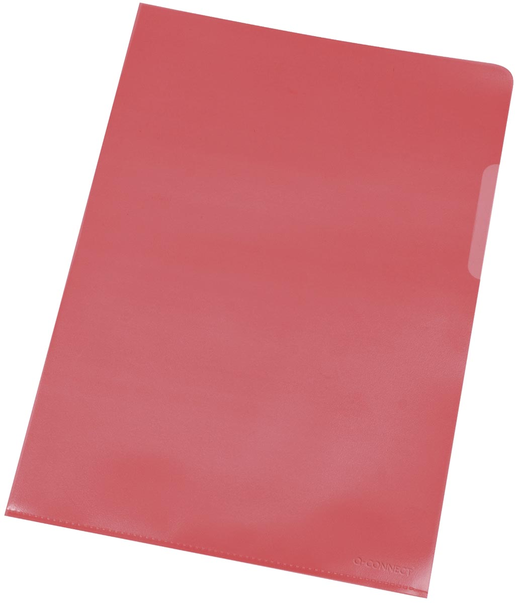 Q-Connect L-map, rood, 120 micron, pak van 10 stuks