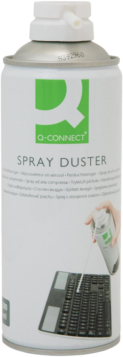 Q-Connect onontvlambare persluchtreiniger, spuitbus van 300 ml