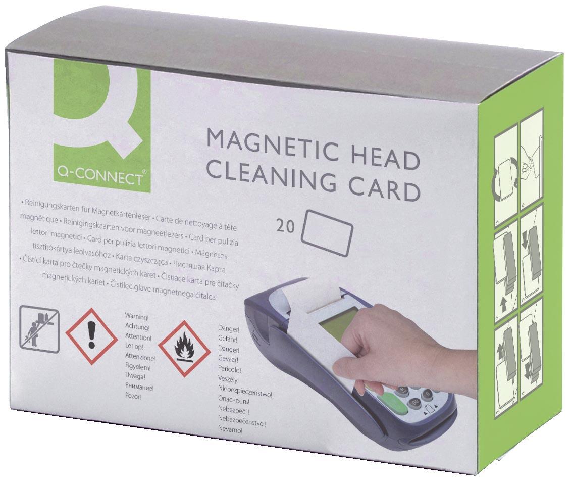 Q-Connect reinigingskaart voor kaartlezers, pak van 20 stuks