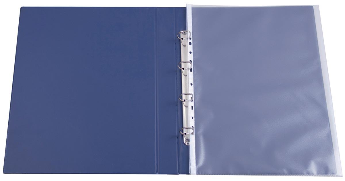Q-Connect geperforeerde showtas, ft A3 portret, 11-gaatsperforatie, gekorreld, pak van 10 stuks