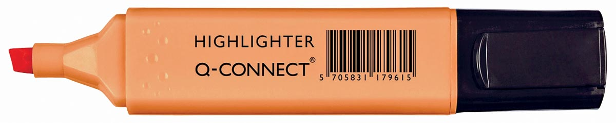 Q-Connect markeerstift pastel, oranje