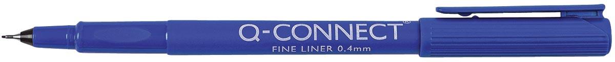 Q-Connect fineliner, 0,4 mm, blauw