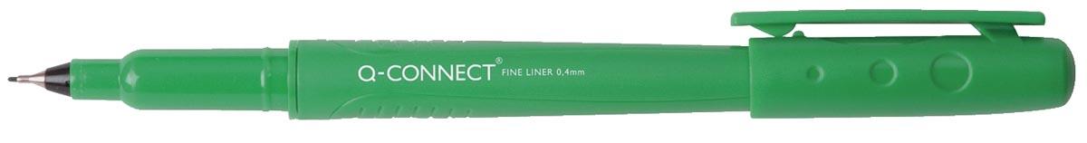 Q-Connect fineliner, 0,4 mm, groen