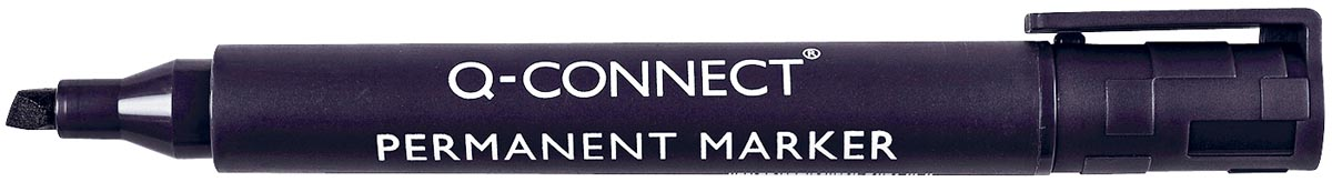 Q-Connect permanente marker, schuine punt, zwart
