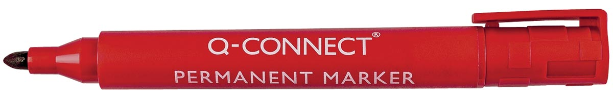 Q-Connect permanente marker, ronde punt, rood