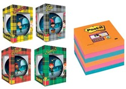Actie Post-it Super Sticky notes bangkok (ref 654SSEG) X 1 + GRATIS kerstbal (ref KERSTBA) X 1