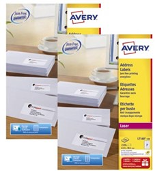 Actie Avery etiketten (L7160): 2 stuks + 10% korting