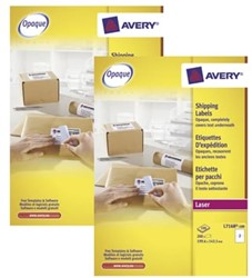 Actie Avery etiketten (L7168): 2 stuks + 10% korting