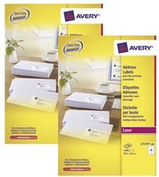 Actie Avery etiketten (L7173): 2 stuks + 10% korting