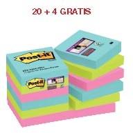 ABD5: actie 3M Post-it Notes Miami 47,6X47,6 mm (ref. 622SSMI) 20 + 4 GRATIS