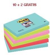 ABD5: actie 3M Post-it Notes Miami 76 X 127 mm (ref. 655SSMI) 10 + 2 GRATIS