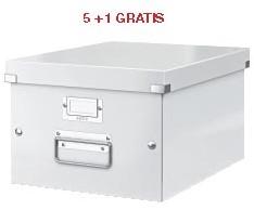 ABD5: actie Esselte archiefdoos WOW C&S, wit (ref. 604401) 5 + 1 GRATIS