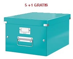 ABD5: actie Esselte archiefdoos WOW C&S, ijsblauw (ref. 6044051) 5 + 1 GRATIS