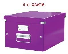 ABD5: actie Esselte archiefdoos WOW C&S, paars (ref. 6044062) 5 + 1 GRATIS