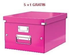 ABD5: actie Esselte archiefdoos WOW C&S, roze (ref. 604423) 5 + 1 GRATIS