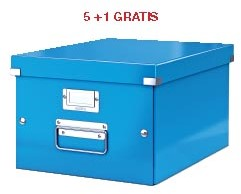 ABD5: actie Esselte archiefdoos WOW C&S, blauw, (ref. 604436) 5 + 1 GRATIS