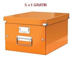 ABD5: actie Esselte archiefdoos WOW C&S, oranje (ref. 604444) 5 + 1 GRATIS