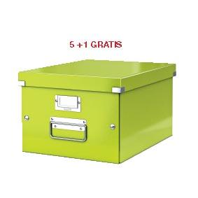 ABD5: actie Esselte archiefdoos WOW C&S, groen (ref. 604464) 5 + 1 GRATIS