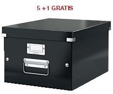 ABD5: actie Esselte archiefdoos WOW C&S, zwart (ref. 604495) 5 + 1 GRATIS