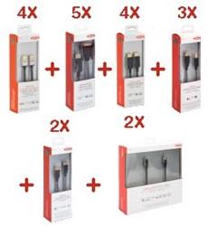 Ednet kabel kit voor kantoorgebruik 1, kit van 20 kabels