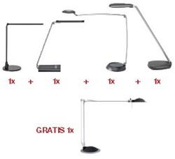 Actie Maul: 4 verschillende bureaulampen + 1 x bureaulamp MAULbusiness (8204095) GRATIS
