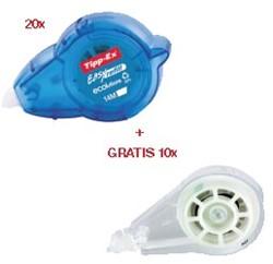Actie Tipp-Ex: 20 x correctieroller Easy Refill (879424) + GRATIS 10 x vulling Easy Refill (G879435)